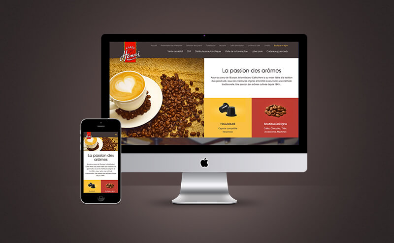 Cafés Henri, site e-commerce prestashop